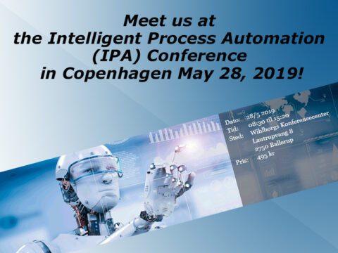 Intelligent Process Automation Conference Copenhagen May 28, 2019