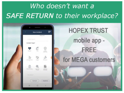 Manage a safe return to the office with HOPEX Trust