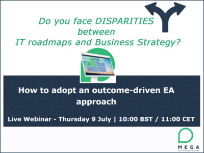 Free MEGA live webinar to learn about the key capabilities of an outcome-driven EA approach